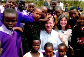 Scott & Bethany with the kids in Uganda